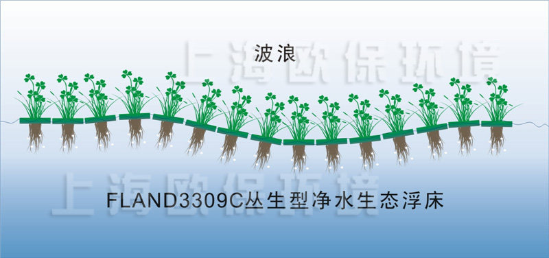 1、丛生型生物浮岛简介 OBAO河道、湖泊、池塘用丛生型生物浮岛是一种人工浮床,全称丛生型净水生物浮岛,为水生植物提供生长载体。人工浮床采用单元式结构,自由拼装,组合连接成多种形状,单元间柔韧连接削减了风浪的破坏力,有效延长了人工浮床的使用寿命。人工浮床起到了净水美化作用,广泛适用于富营养化的河道、湖泊、水库等自然及人工水体。  2、丛生型生物浮岛结构特点 丛生型生态浮床由多个FLAND3309C浮岛单元有机组合而成,每个浮岛单元由抗风浪型生物浮板、连接扣、种植介质及水生植物四部分组成。  柔韧性连接,在