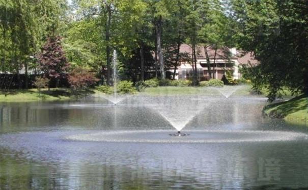 安装浮水喷泉式曝气机后,水质转好,浮萍滋生得到控制