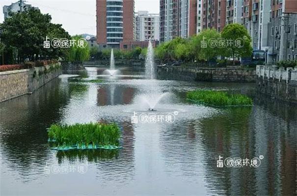 浮水喷泉式曝气机应用于河道治理