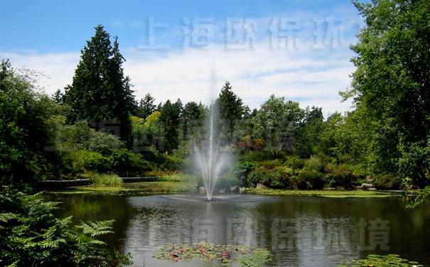 浮水喷泉式曝气机在生态景观湖中应用
