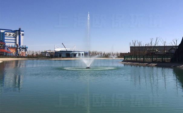 灵动的FANS浮水喷泉在景观湖治理中应用