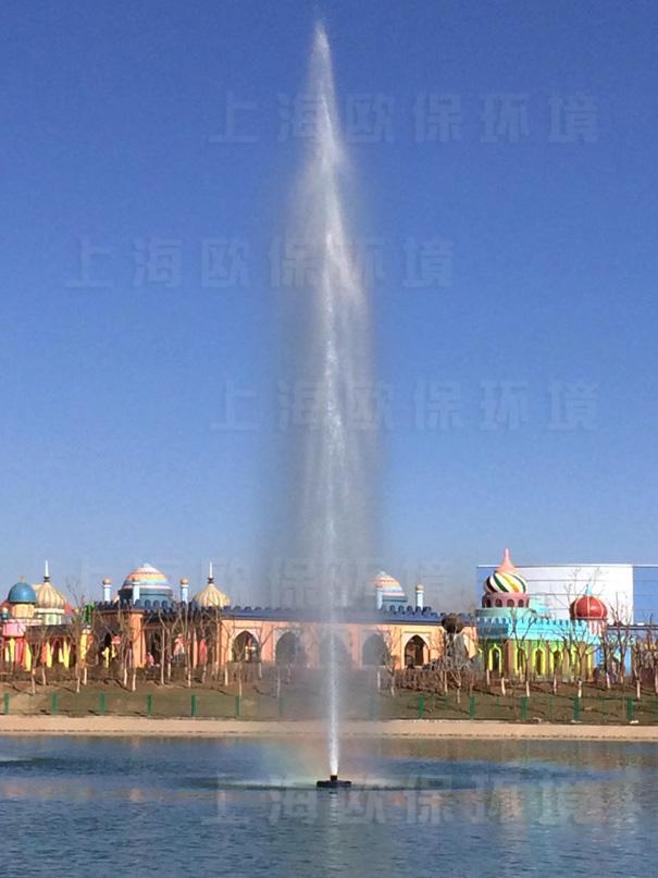 冲入云霄的JASTING景观湖治理浮水喷泉