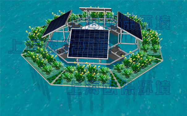 一体式太阳能曝气浮岛结构特点