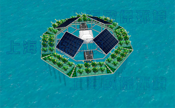 一体式太阳能曝气浮岛