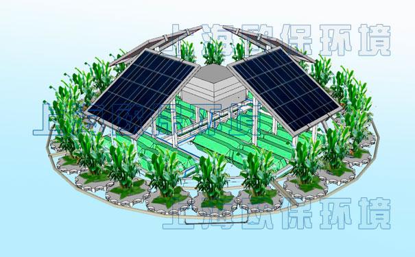一体式太阳能曝气浮岛  solarmba太阳能曝气浮岛通过向水中注入压缩