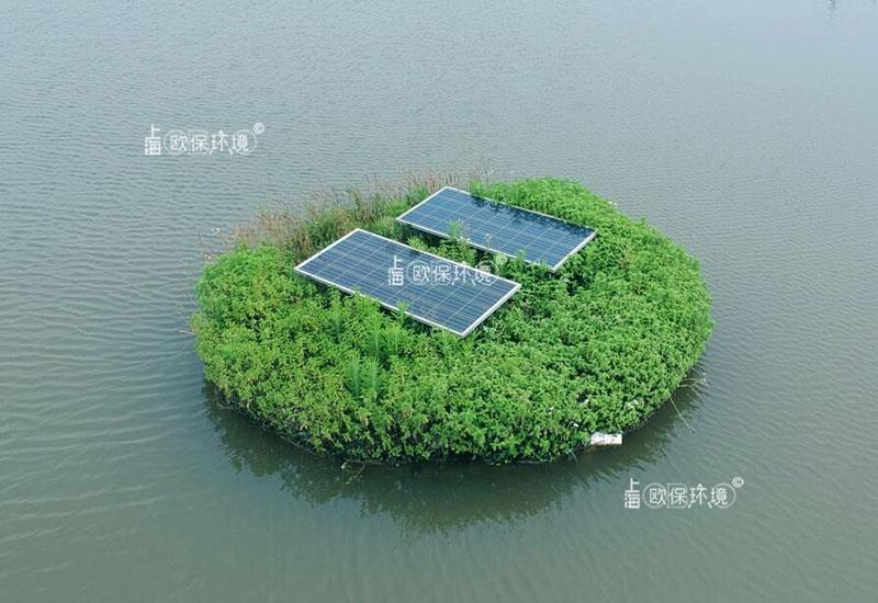 浮田型净水平台(太阳能曝气生物浮岛)