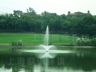 浮水喷泉曝气机用于上海佘山国际高尔夫湖泊治理