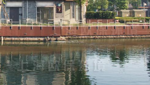 壁挂式造流曝气机在水都南岸河道治理中亮相